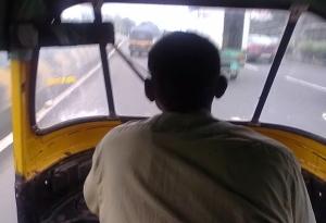 Inside a Rickshaw